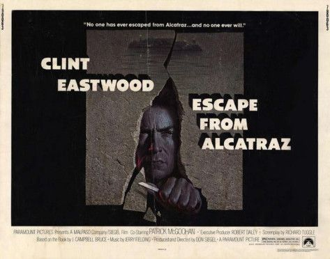Escape From Alcatraz Good Old Movies Clint Eastwood Escape Movie