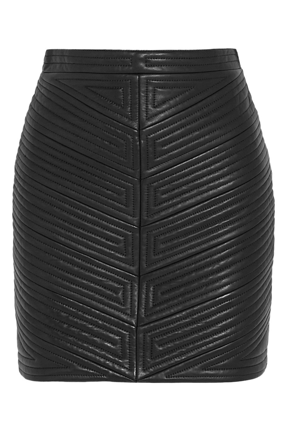 398c3250f Black Quilted Leather Mini Skirt - raveitsafe