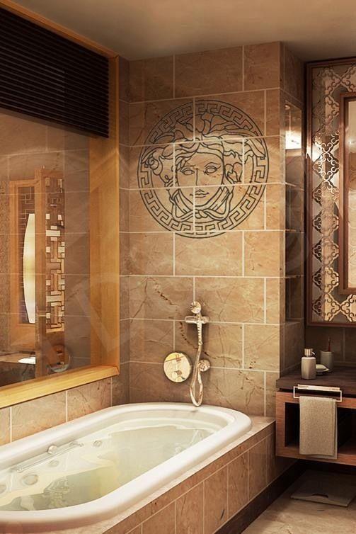 Versace bathroom my home my house d co salle de bain romantique salle de bain romantique - Salle de bain romantique ...