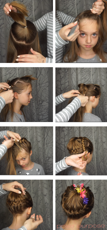 Kid S Braided Ballet Bun Dance Hairstyles Ballet