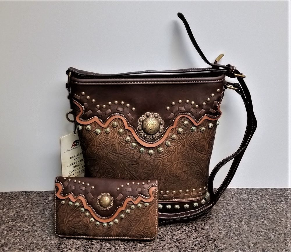 Montana West Concealed Carry Purse Concho Matching Wallet
