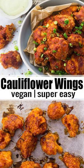 Cauliflower Hot Wings (Vegan & Gluten-Free) #vegetarianrecipes