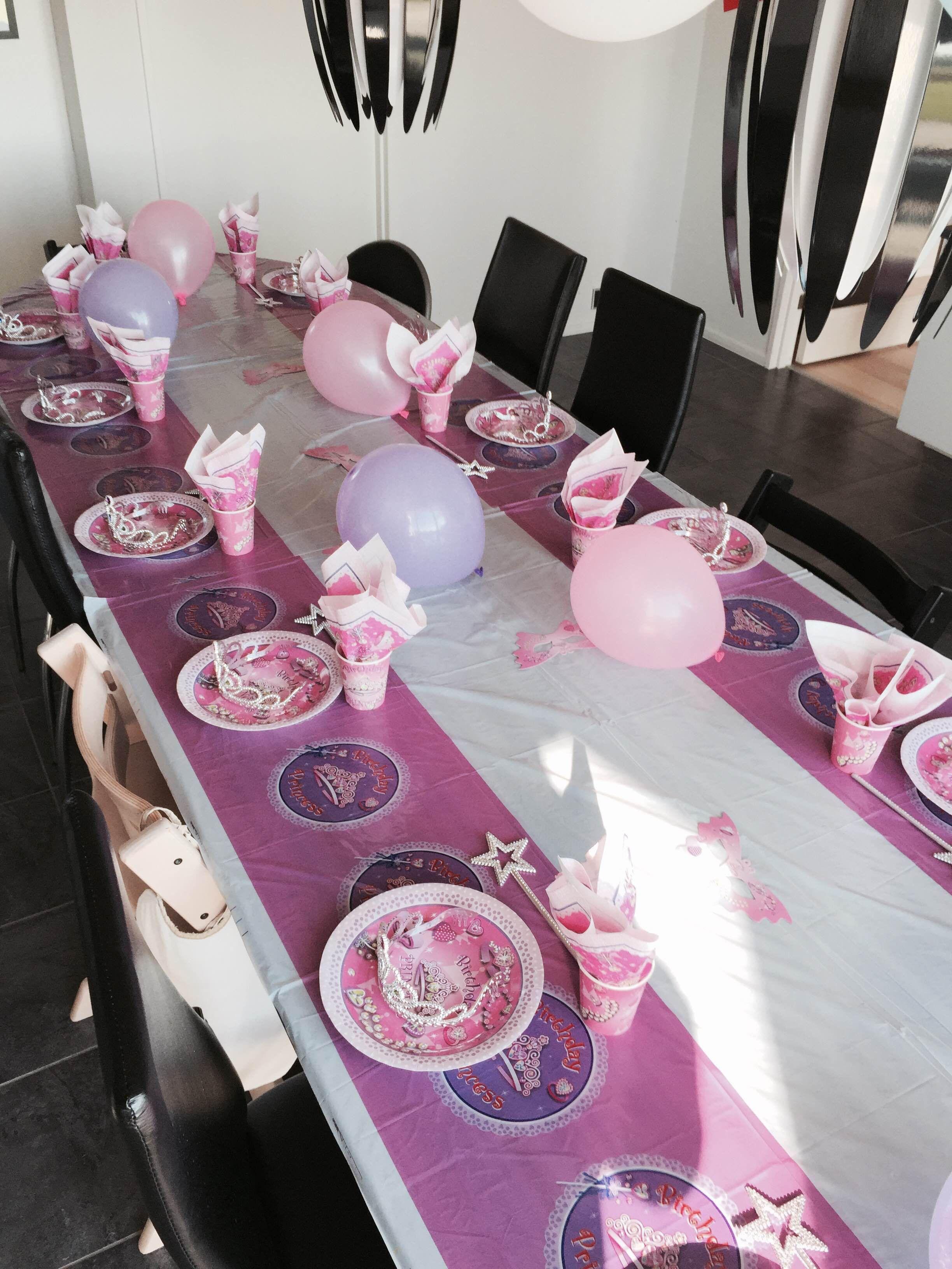 Børnefødselsdag Inspiration 3 års fødselsdag med prinsesse tema fra billig-børnefødselsdag.dk