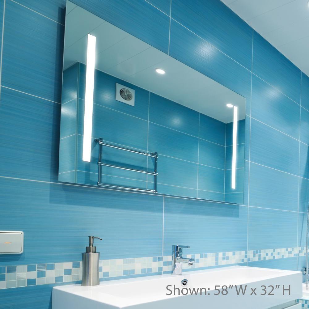 Dyconn Catella 36 in. x 30 in. LED Backlit Vanity Bathroom LED ...