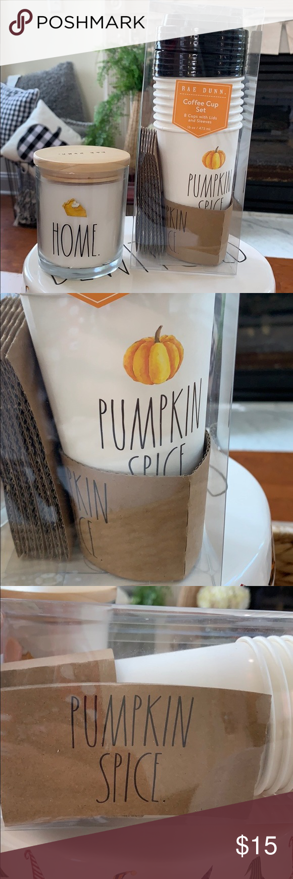 Rae Dunn Pumpkin Spice coffee cups NWT (With images