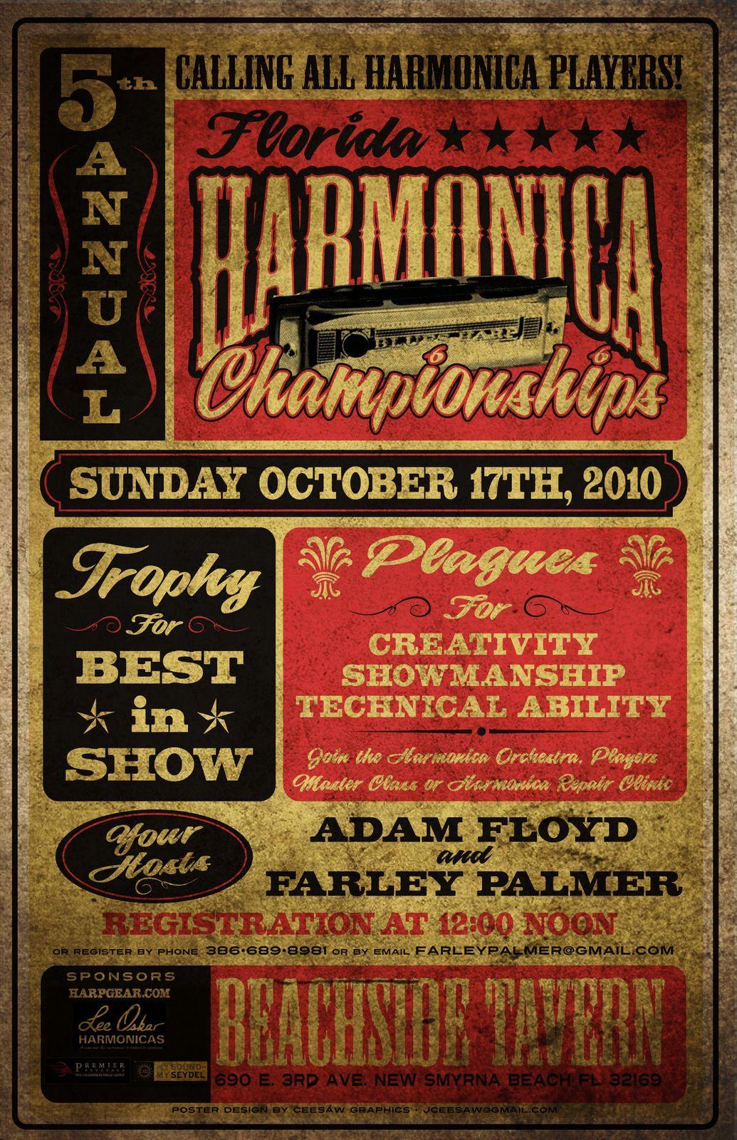 Design poster retro - Jazz Music Poster Poster Design Harmonica Festival Typography Vintage