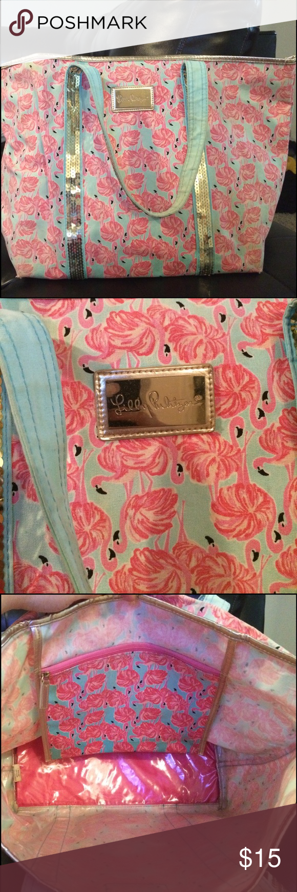Lily Pulitzer Beach bag Very nice lily Pulitzer beach bag , used a couple times !!! lily pulitzer Bags Totes
