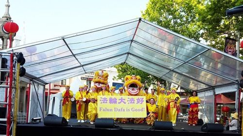 Sydney, Australia: Falun Gong Practitioners Perform at Local Chinese New Year Celebration