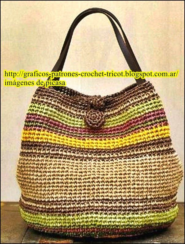 BOLSO TEJIDO A GANCHILLO (Donny=Tejiendo a Crochet) | crafts ...