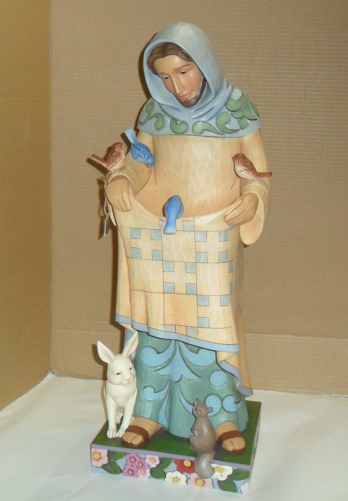Grey Jim Shore St Francis Garden Statue #26   Saint Francis · Garden Statues  · San ...