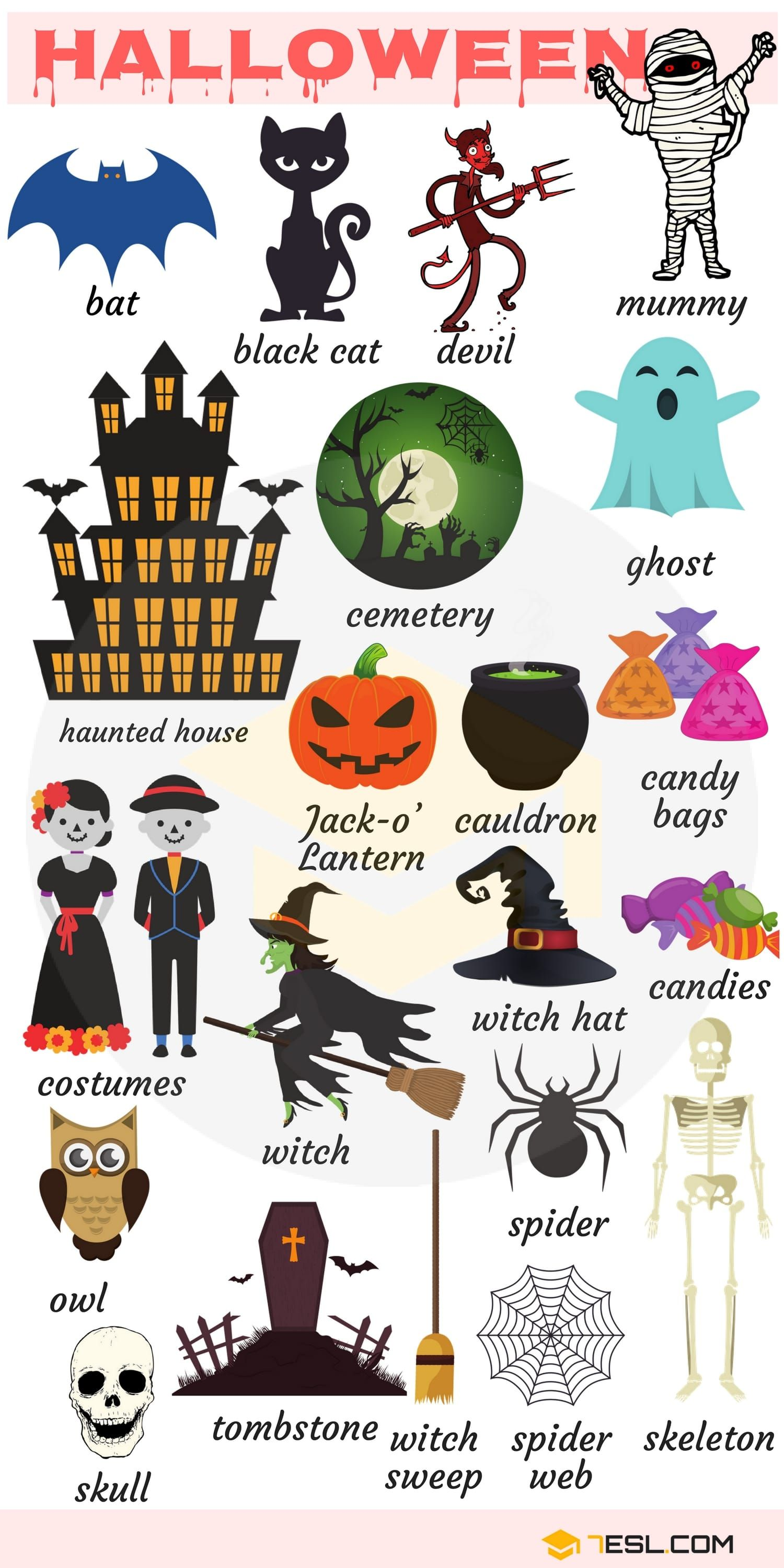 Halloween Words Useful Halloween Vocabulary Words