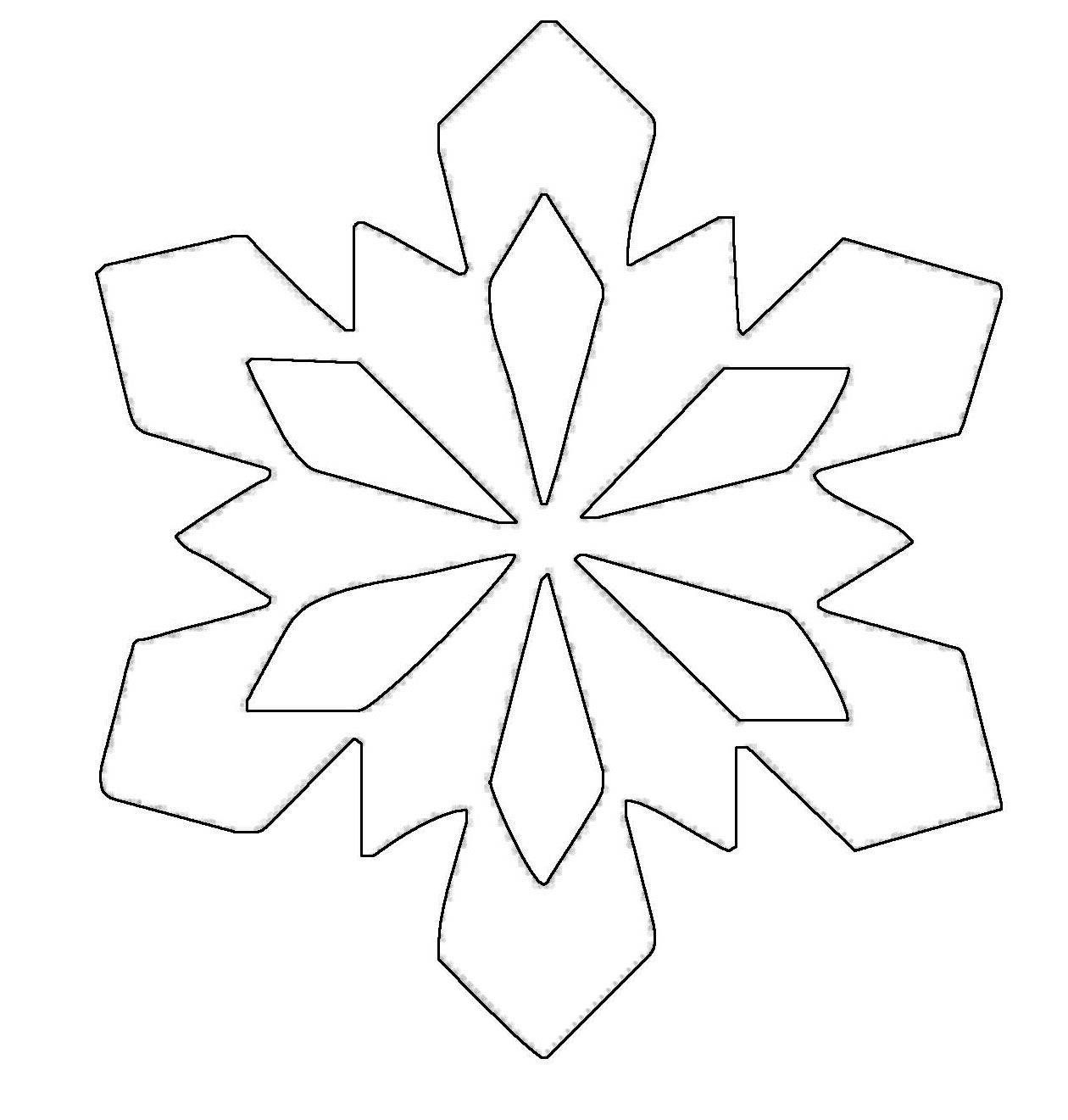 Simple snowflake patterns ausmalbild schneeflocken und - Ausmalbild stern ...