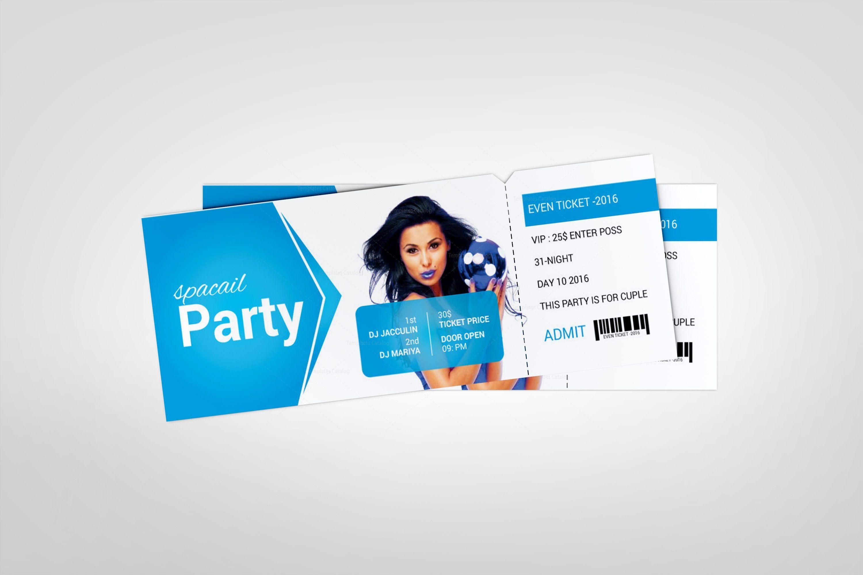Foam Party Event Ticket Design Template Graphic Templates Ticket Design Template Event Tickets Design Ticket Design