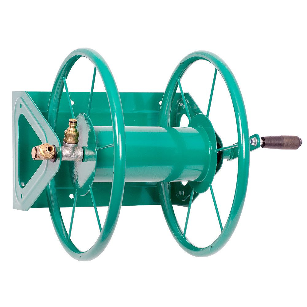 HydroSure Metal Large Hose Reel   75m Capacity   Green
