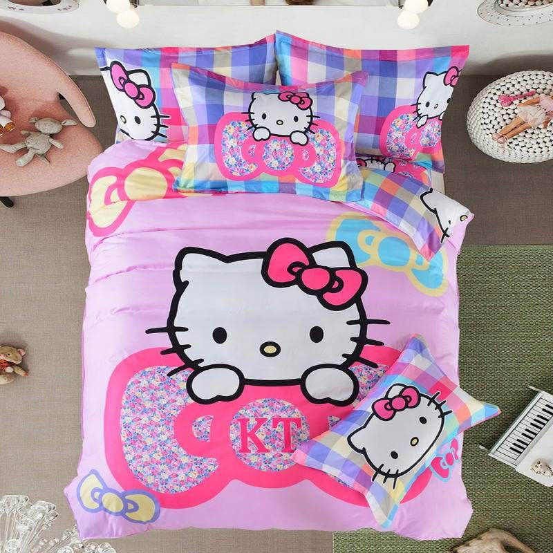 Our hot sale bedding set,Hello Kitty bed set, comfortable