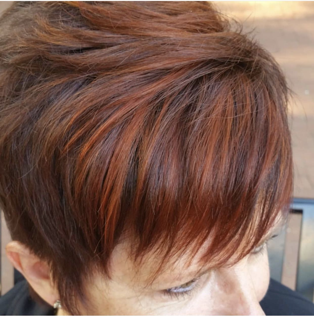 Shades of red red dimensional color by uirmau red pixie hair