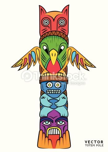 clipart vectoriel vector totem pole pinterest totems rh pinterest com totem pole clip art free totem pole clipart black and white