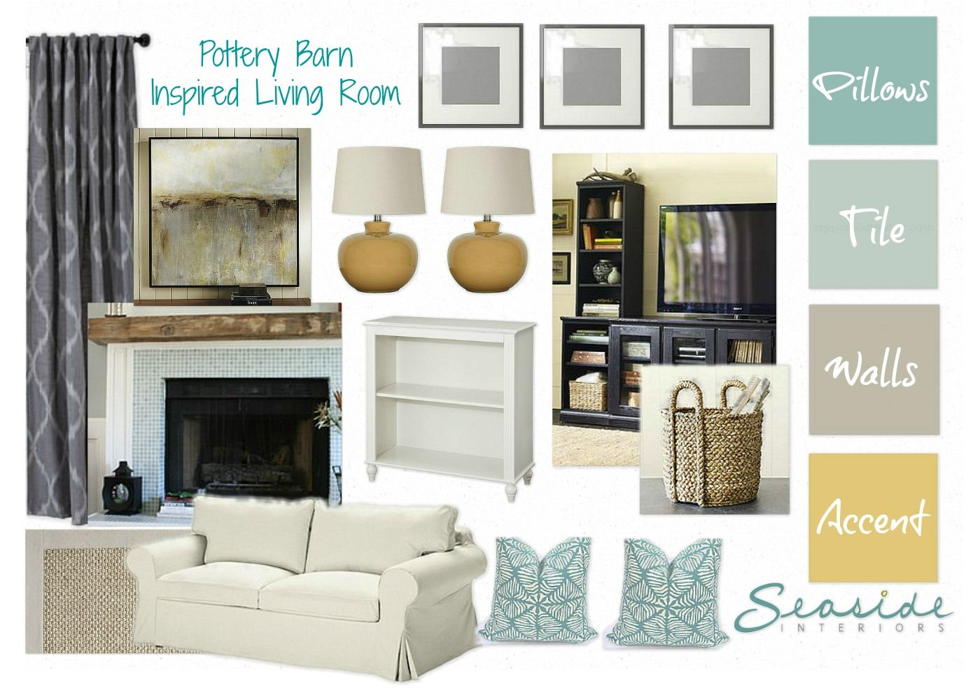 Seaside Interiors: One of several pottery barn inspired designs ...