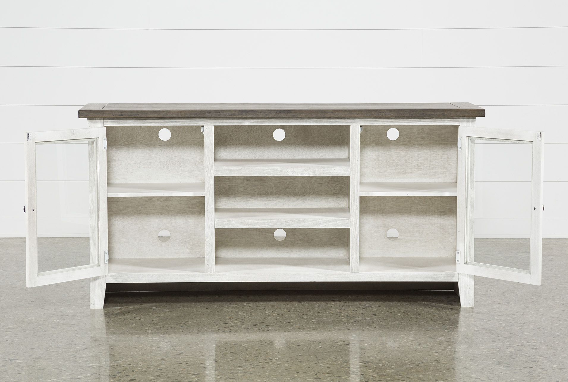 63afb9d3c0e5 Dixon White 65 Inch Tv Stand | Products | 65 inch tv stand, 65 inch ...