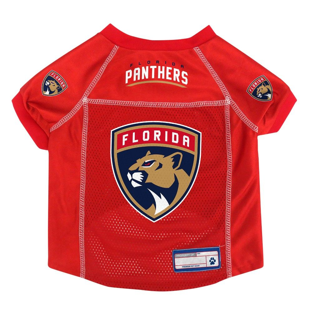 NHL Florida Panthers Pet Jersey - XL Multicolored  Home  Pets   PetApparelandCostumes  PetCostumes 020b0e054