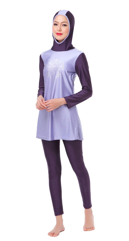 17e575c3b4 Modest Muslim Swimwear Islamic Swimsuit For Women hijab swimwear full  coverage swimwear muslim swimming beachwear swim suit