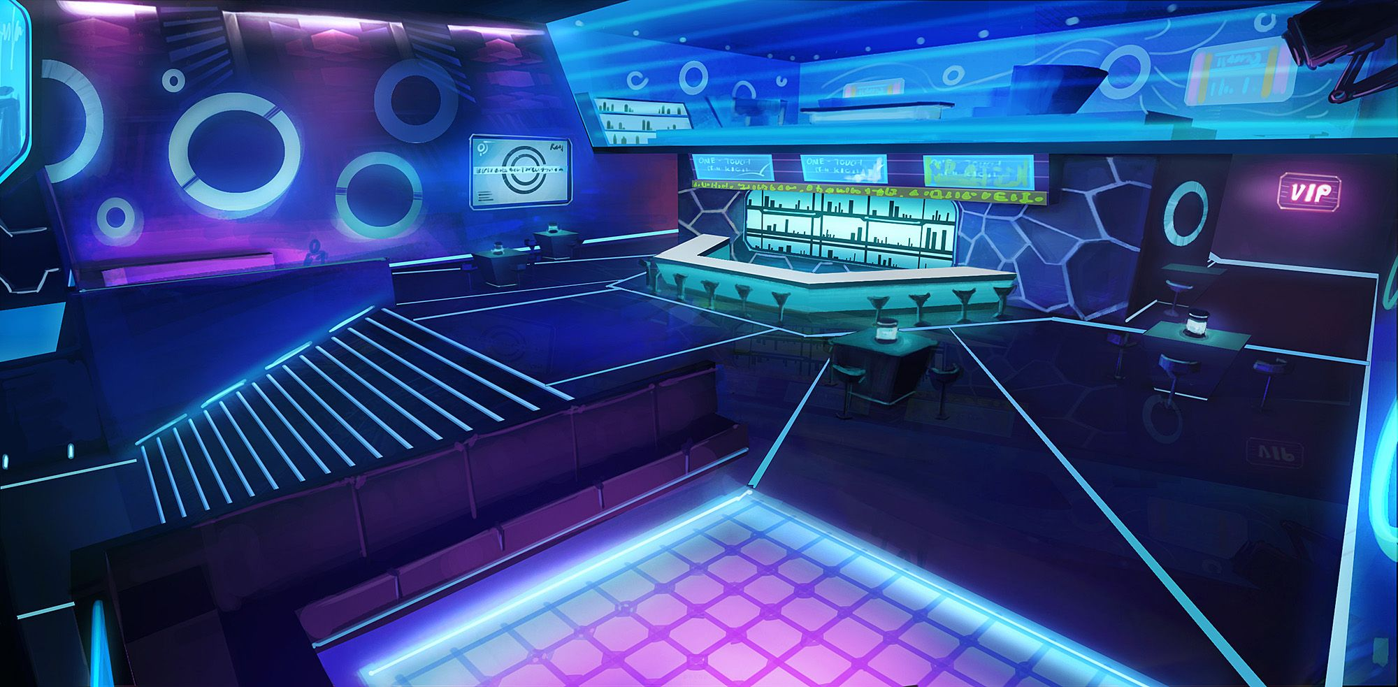 Environment Concept Exile Online Nightclub Design Night Club