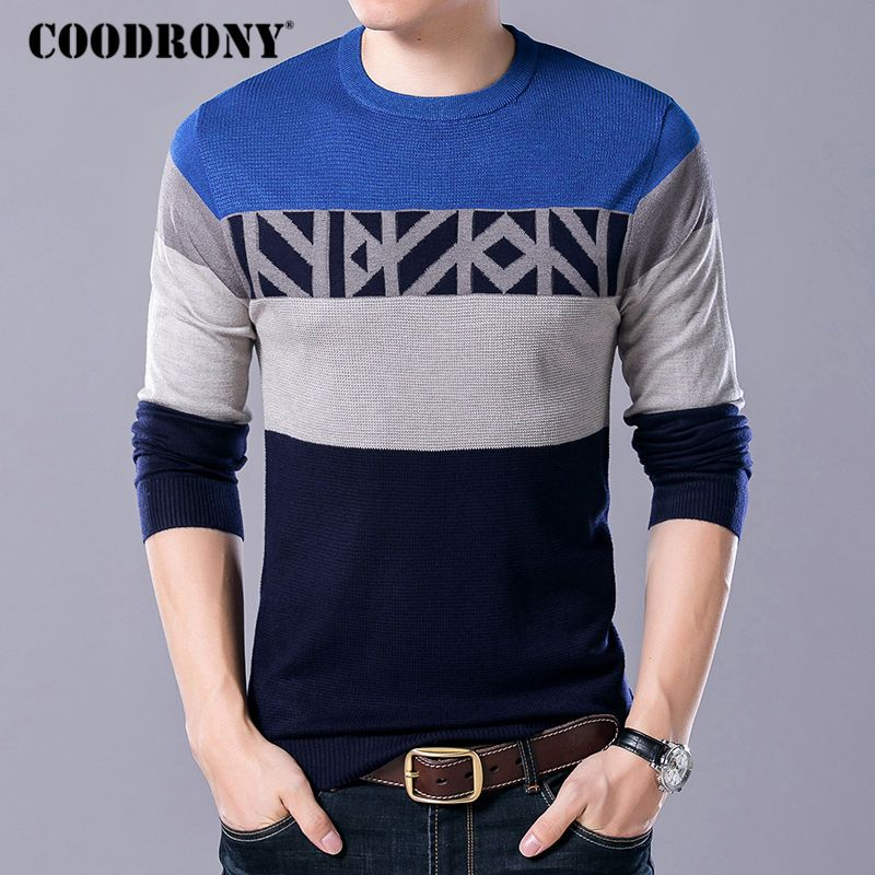 GAGA Mens Long Sleeve Cotton Casual Knitted Pullover Turtleneck Sweater