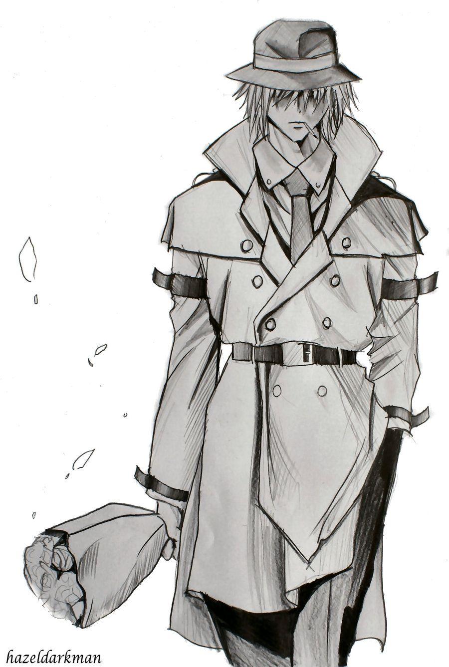 Anime Boy Trench Coat - Google Search  Drawing References -7803