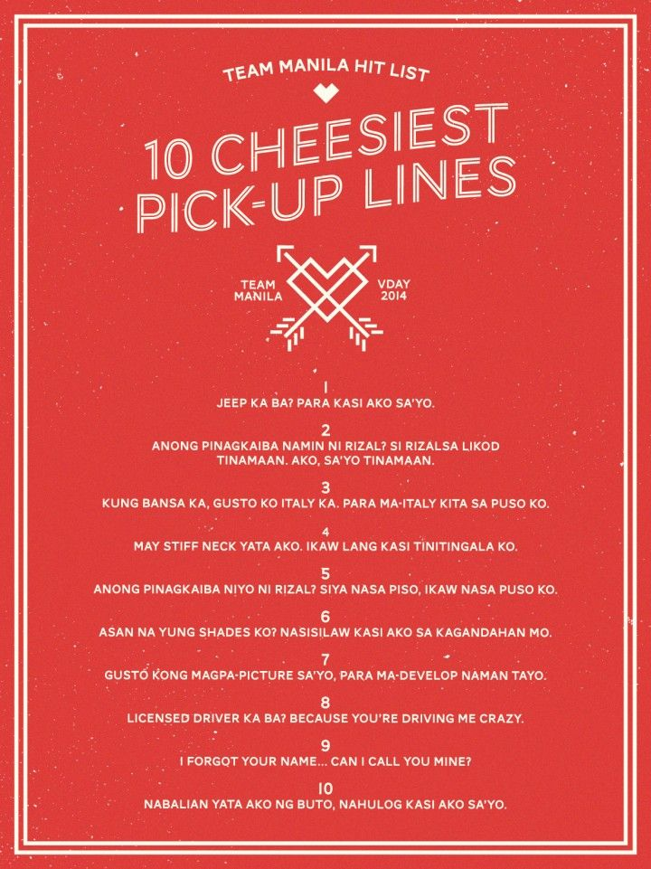 TM HIT LIST cheesy lines poster-01 in 2020 (With images ...