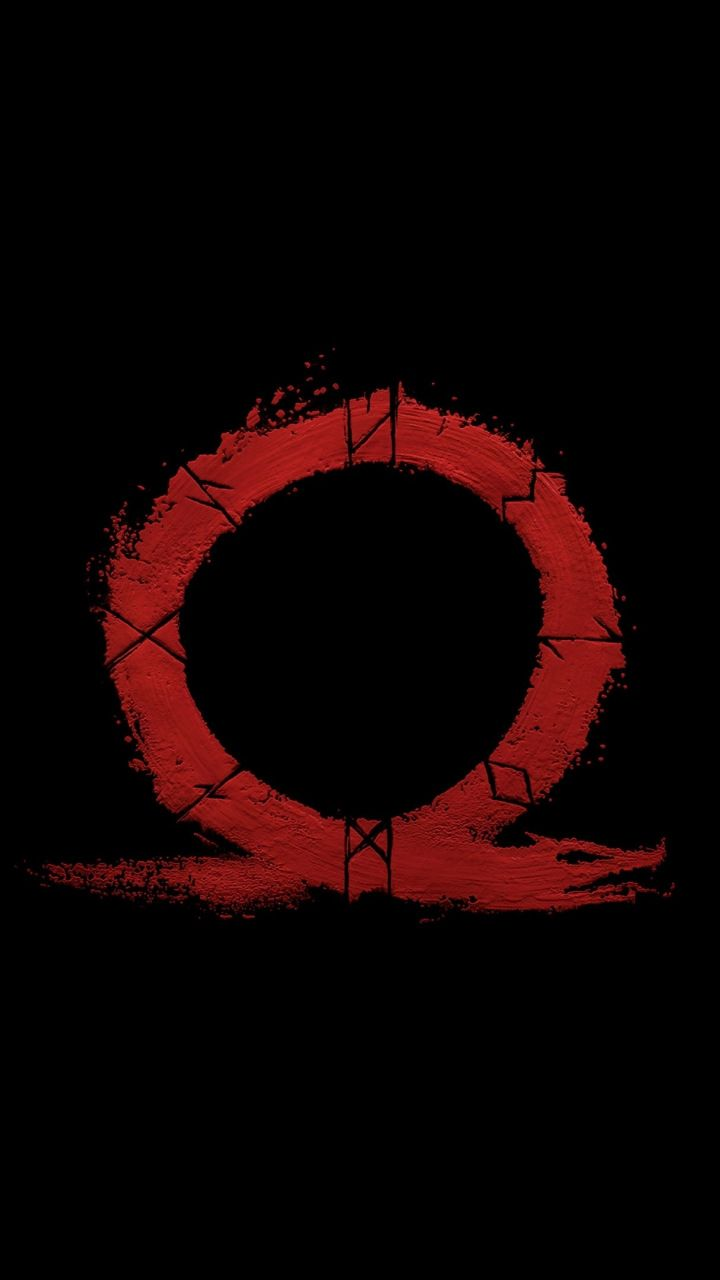 god of war, omega, logo, video game, minimal, 720x1280 wallpaper