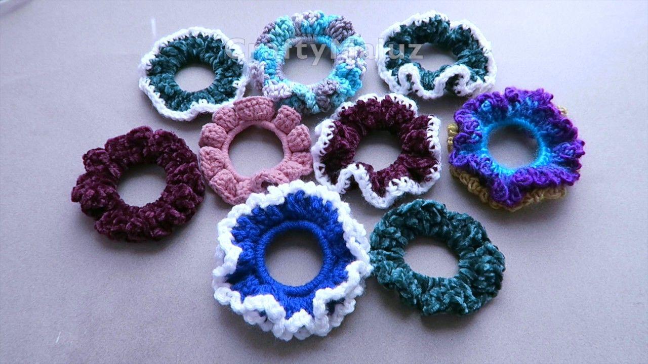 CROCHET TUTORIAL🍩 Donas a Crochet paso a paso 🍩Donas para cabello | Crochet Hair SCRUNCHIES