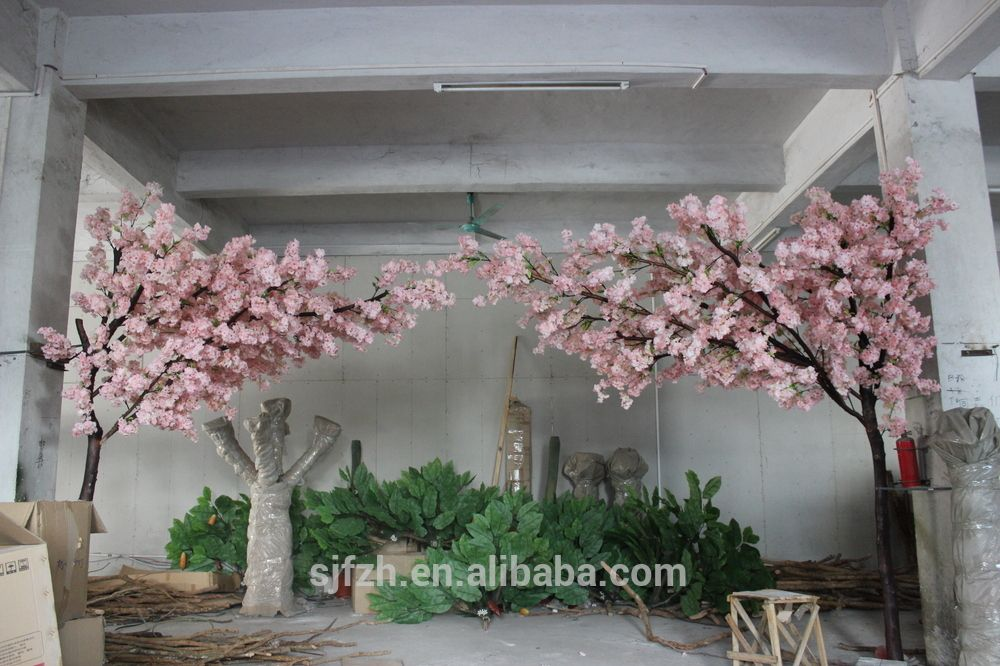 Indoor Dry Tree For Wedding Decoration Artificial Cherry Blossom Tree Sil Artificial Garden Plants Artificial Cherry Blossom Tree Artificial Plant Arrangements