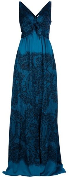 8b7796f10914f absolutely love! Emilio Pucci Maxi Dress in Blue | Mmhm | Maxi gowns ...