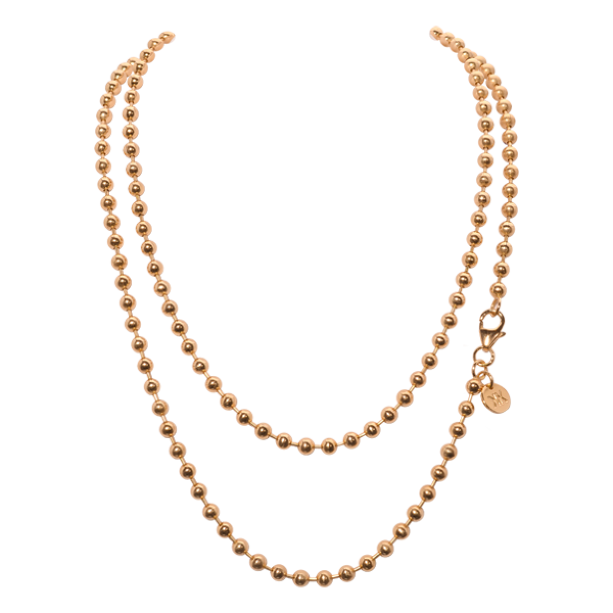 Nikki Lissoni Gold Ball Chain 42cm Gold Chains Jewellery Online Jewelry Store Chains Jewelry Jewelry