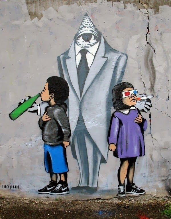 Ukrainian Banksy Awesome Street Art From Sharik Murals Street