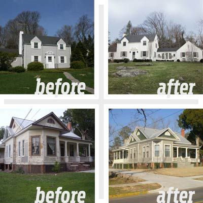 Best Whole House Before And Afters  House Curb Appeal And - Home exterior remodeling before and after pictures