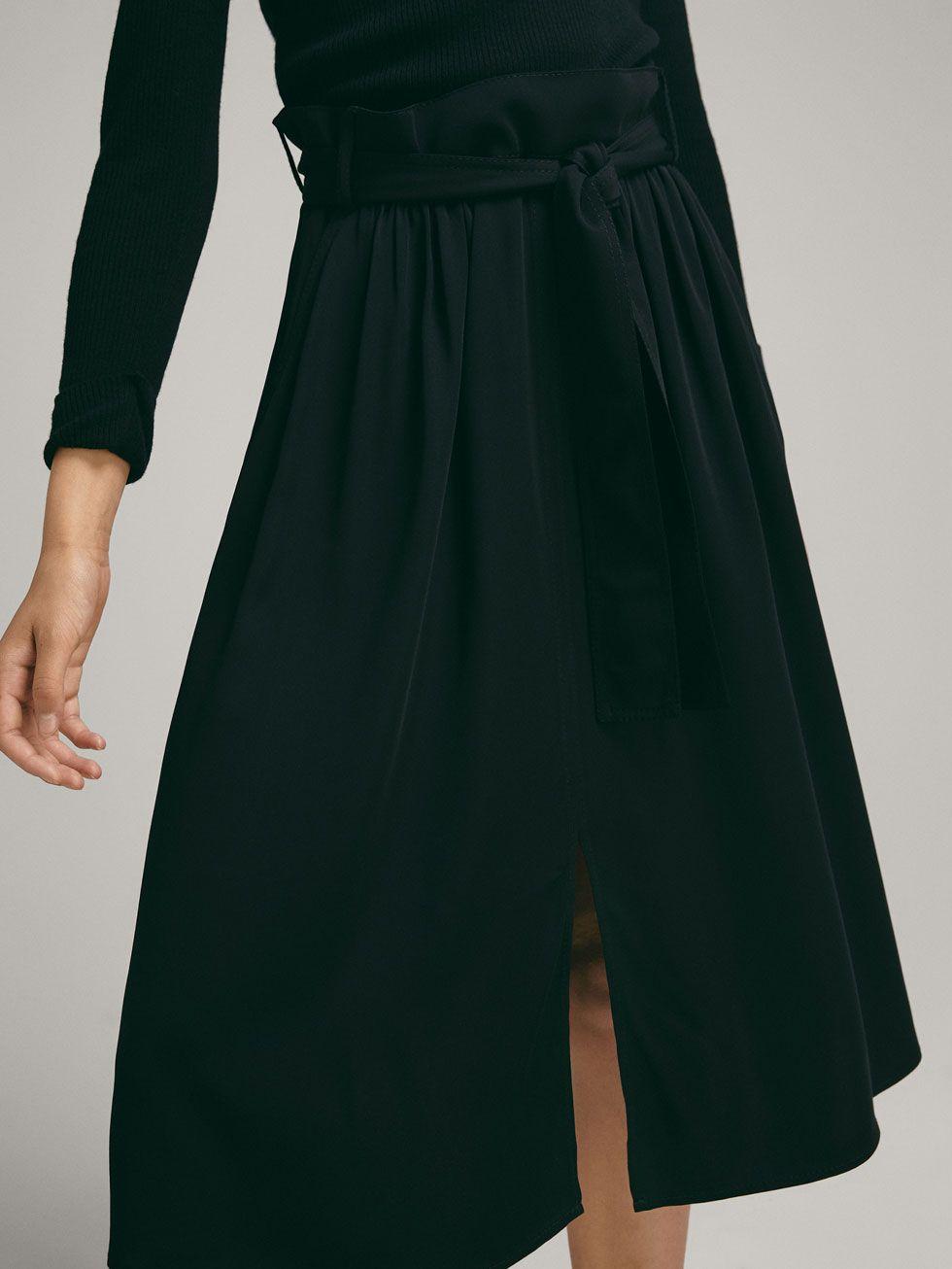 43800b115f SKIRT WITH FRONT SLIT DETAIL - Women - Massimo Dutti Harem Pants,  Silhouette, Zara