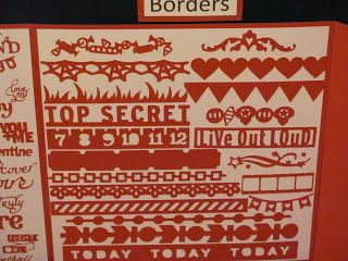 Artbooking: just a few of the border shapes you will find on this cartridge.