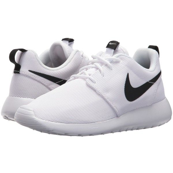 c6867b0dbf93 Nike Roshe One (White White Black) Women s Shoes ( 75) ❤ liked on Polyvore  featuring shoes