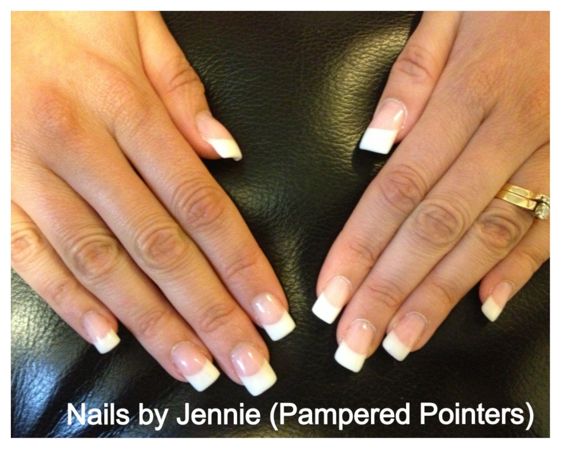 Gel nails - en Vogue French Visit www.facebook.com/pampered.pointers ...