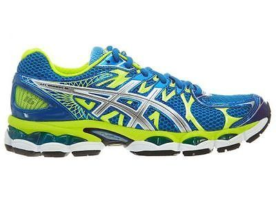 8d381c91 Asics Gel-Nimbus 16 Mens T435N-6197 Blue Lime Athletic Running Shoes ...