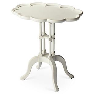 Willow Side Table, White