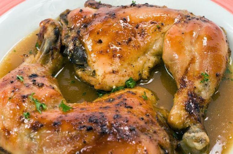 Pollo Horneado Al Limón Receta Recetas Con Pollo Pollo Perniles De Pollo