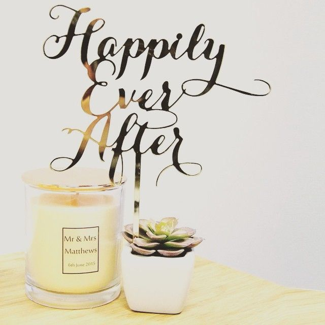 Scripted Happily Ever After - Wedding Cake Toppers Australia