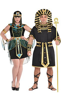 adult egyptians couples costumes plus size