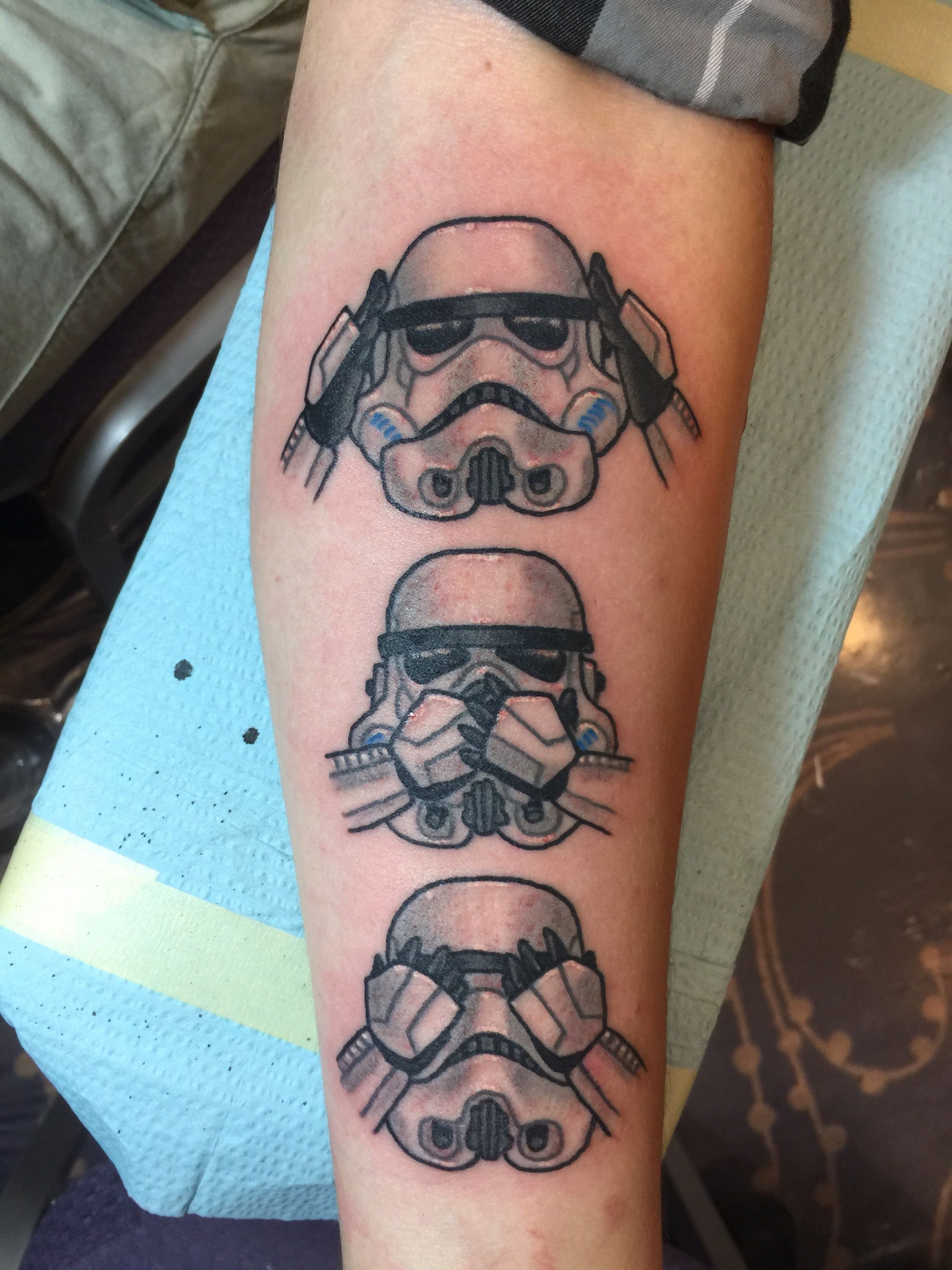 Star Wars tattoo by Dylan Tate from Love Hate in Rochester NY ...