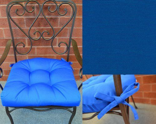 Set Of 4 Outdoor Patio 19 5 Tufted Contoured Chair Seat Cushions