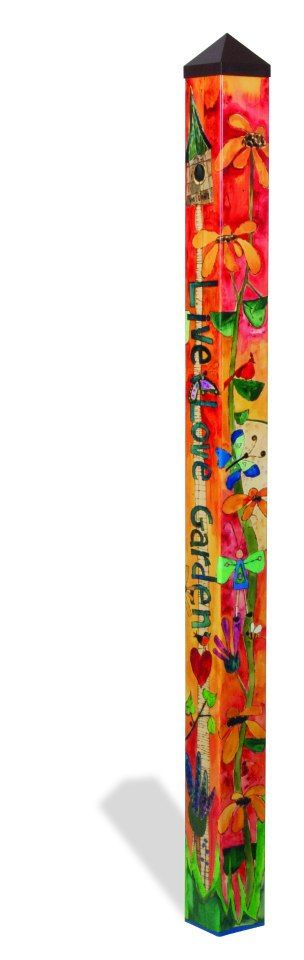 Love Garden 6 Peace Pole PP215 from Quirks of Art Gardens
