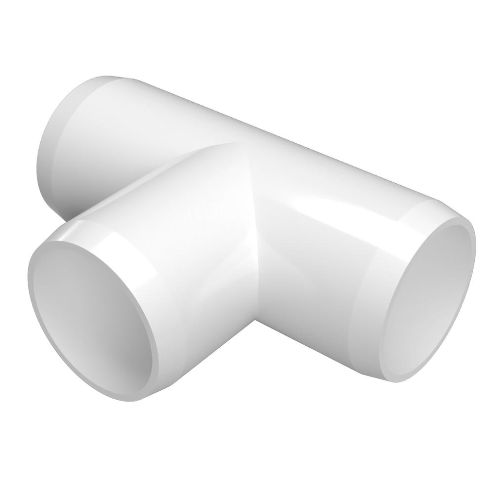 Formufit 1 In Furniture Grade Pvc Tee In White 4 Pack In 2020 Pvc Fittings