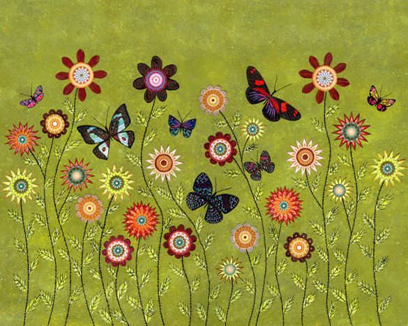 Bohemian Butterflies Large Poster Print 16 x 20 Inches £35.00